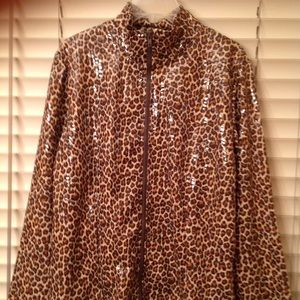 Animal Leopard / Cheetah Shimmer Zip Jacket 😍💖